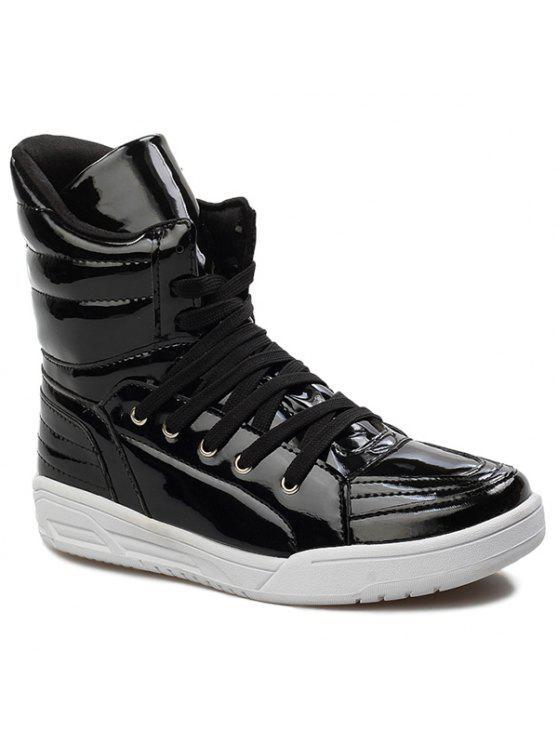 عارضة الدانتيل متابعة براءات الاختراع والجلود الأحذية - أسود 44
