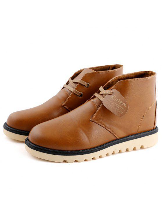بريبي خياطة بو الجلود الأحذية قصيرة - البني الفاتح 43
