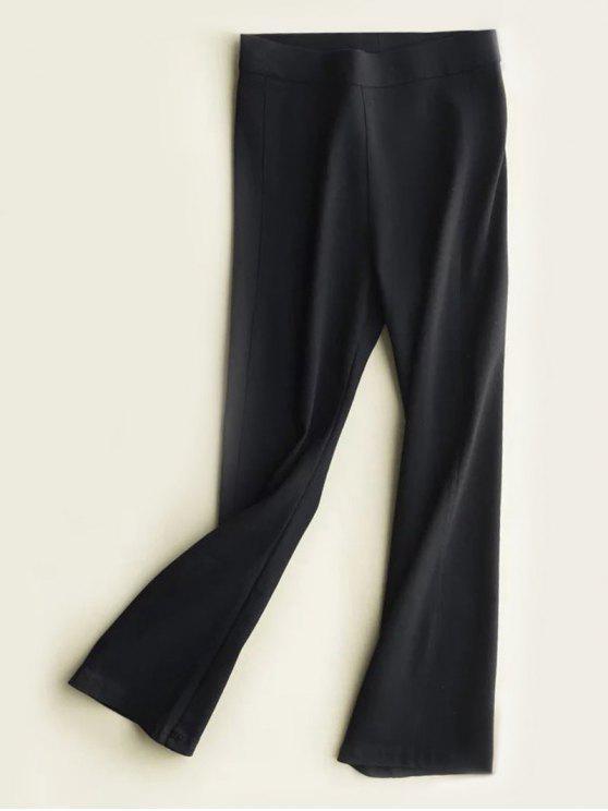 Calças de cintura alta emagrecimento do Boot Cut - Preto M