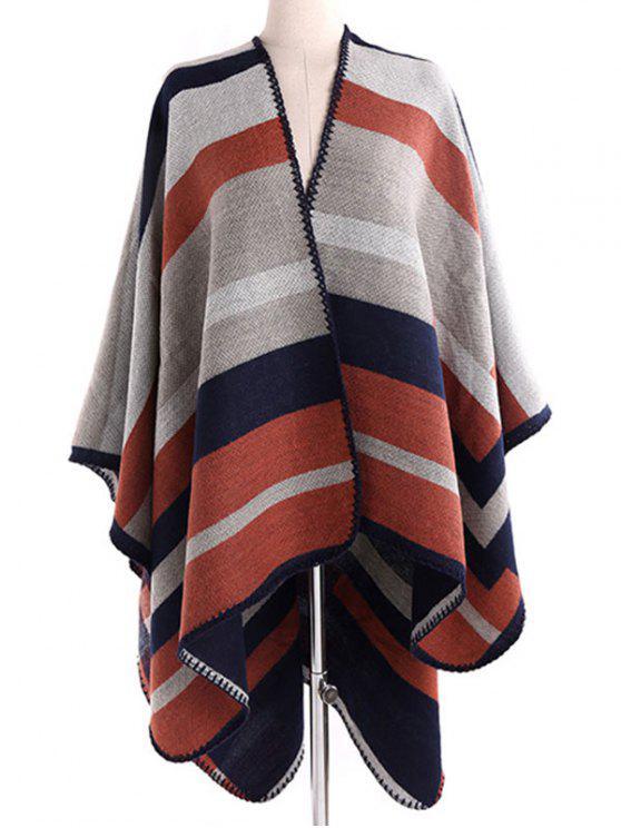 new Stripe Wrap Pashmina - LIGHT BROWN