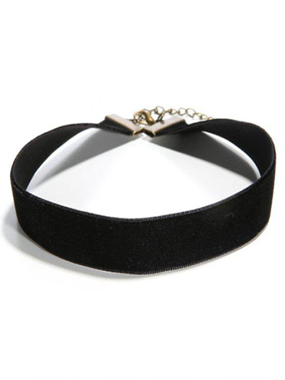 hot Concise Faux PU Leather Choker - BLACK