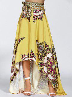 High Low Pint Skirt - Yellow S
