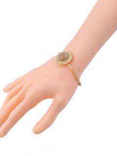 Faux Gem Embellished Sun Cuff Bracelet - Golden