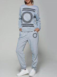 Geometric Gym Outfits - Gray Xl