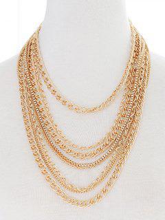 Collier Vintage Agrémentée Chains Multicouches - Or