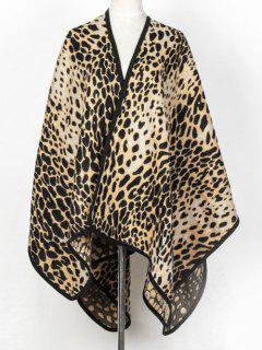 Cheetah Covered Edge Wrap Pashmina - Light Coffee