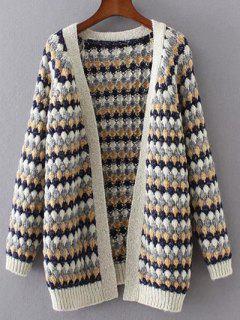 Striped Ouvert Cardigan - Bleu Violet