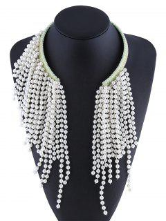 Faux Pearl Bead Necklace - Off-white
