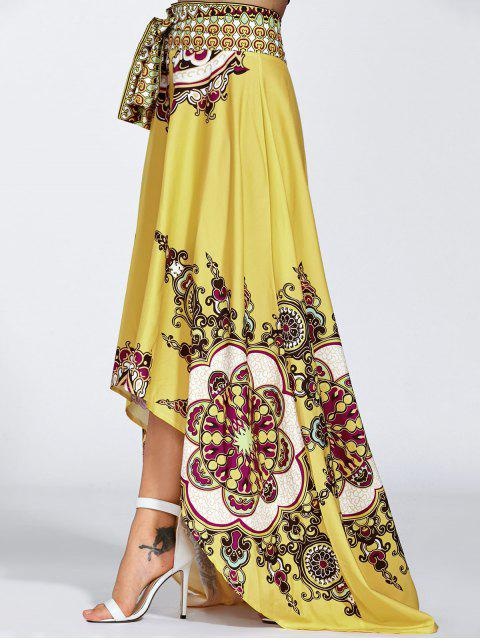 outfit High Low Pint Skirt - YELLOW S Mobile