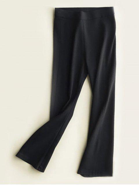 shop High Waist Slimming Boot Cut Pants - BLACK M Mobile