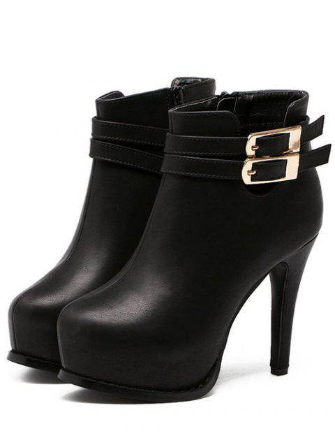 best Double Buckle Stiletto Heel Ankle Boots -   Mobile