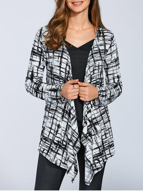 outfit Drape Front Cover-Up Blouse - COLORMIX S Mobile