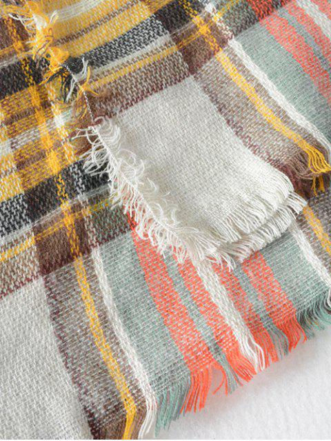 new Plaid Series Fringed Scarf -   Mobile