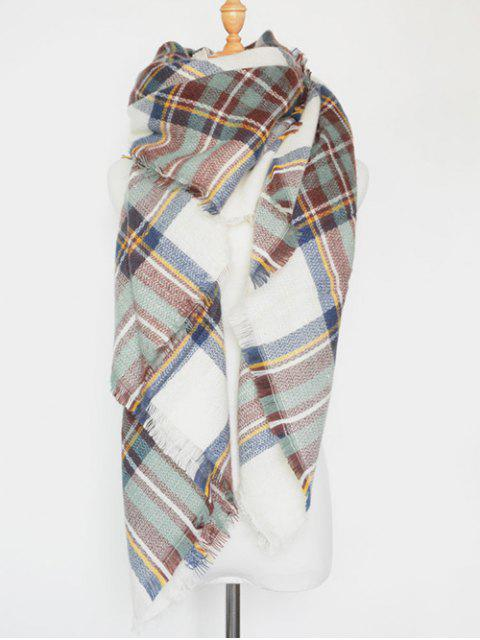 shop Plaid Series Fringed Scarf -   Mobile