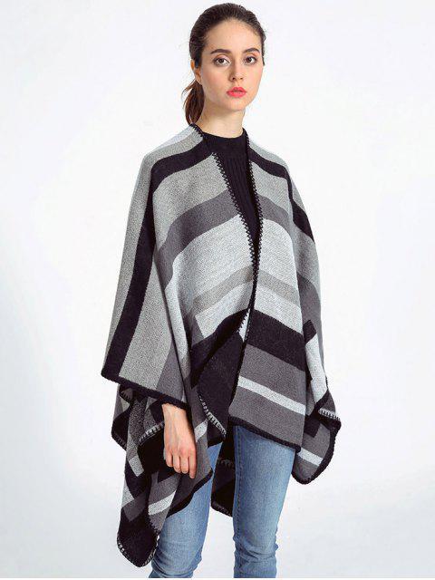 online Stripe Wrap Pashmina - GRAY  Mobile