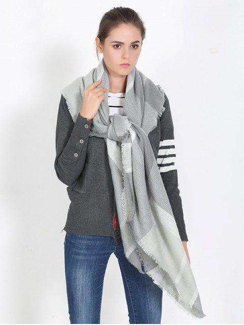Plaid mit Fransen Schal-Schal - Grau  Mobile