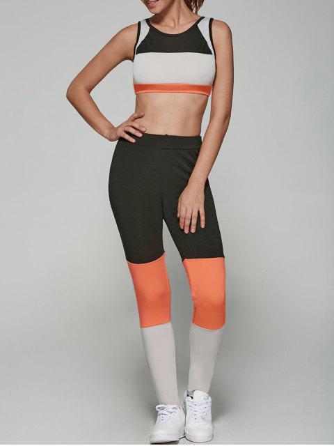 new Color Spliced Sports Suit - COLORMIX L Mobile