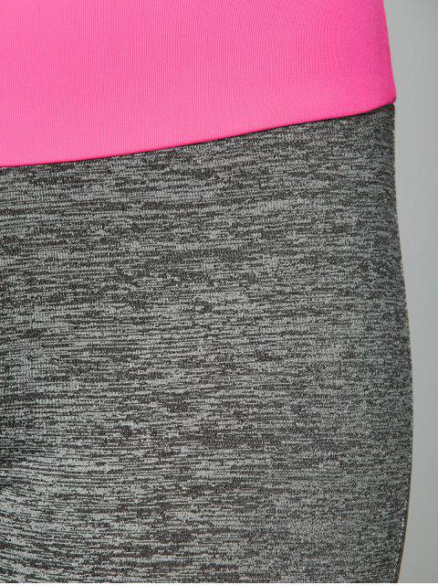 latest Space Dyed Color Spliced Leggings -   Mobile