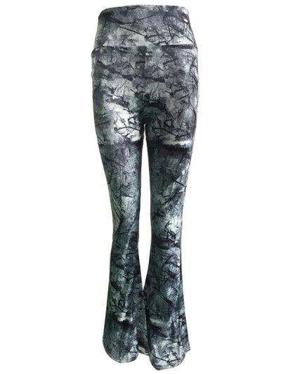 Image of Abstract Print High Waist Wide Leg Pants