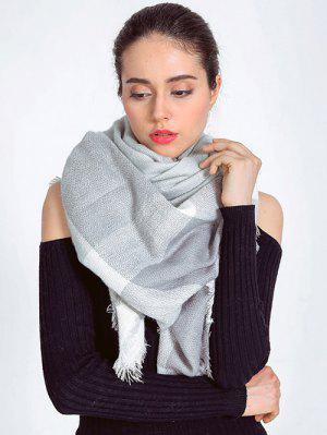 Schal mit Karomuster und Quaste Design
