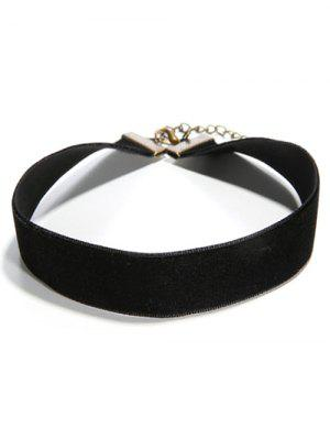 Concise Faux PU Leather Choker - Black