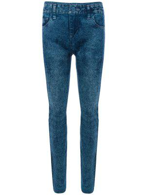 Dünne Jeggings Faux Jean Leggings