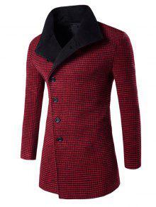 وحيد الصدر هوندتوث نمط معطف الصوف - أحمر M