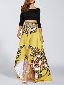 high low pint skirt yellow skirts l zaful