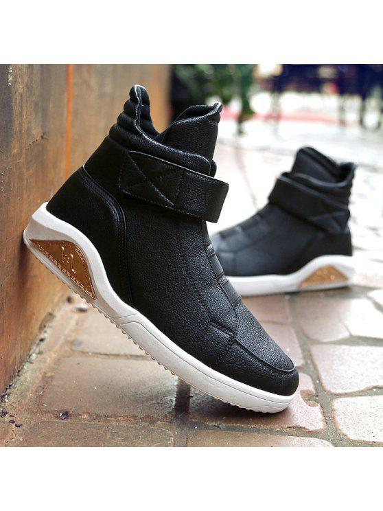 61b6683dae 59% OFF  2019 PU Leather Elastic Band Stitching Boots In BLACK