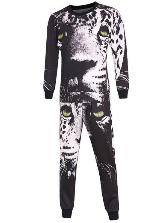 3D imprimé léopard à manches longues Sweatshirt Twinset - Multicolore 2XL