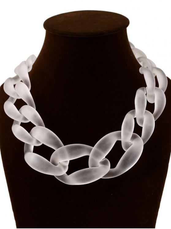 Collar de la forma de la cadena de la tentación del caramelo exagerada - Transparente