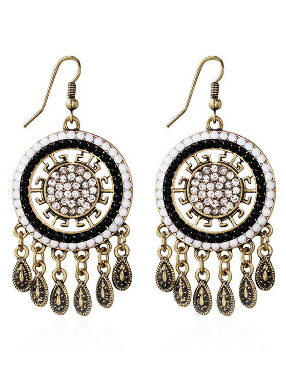 affordable Water Drop Rhinestone Bohemian Earrings - WHITE