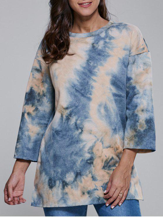 Tie-Dyed Sweatshirt - Bleu Toile de Jean L