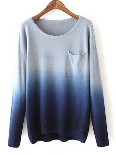 Ombre Pocket Sweater - Bleu