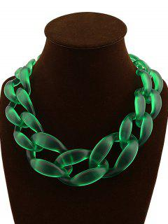 Braided Acrylic Candy Color Necklace - Green