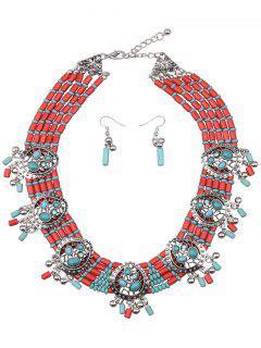 Turquoise Perles D'eau Goutte Bijoux __gVirt_NP_NN_NNPS<__ Set - Vert