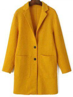 Laine Poches Blend Coat - Jaune Xs