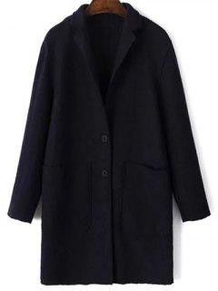 Laine Poches Blend Coat - Bleu Violet Xs