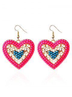 Bohemian Love Heart Beads Earrings - Blue