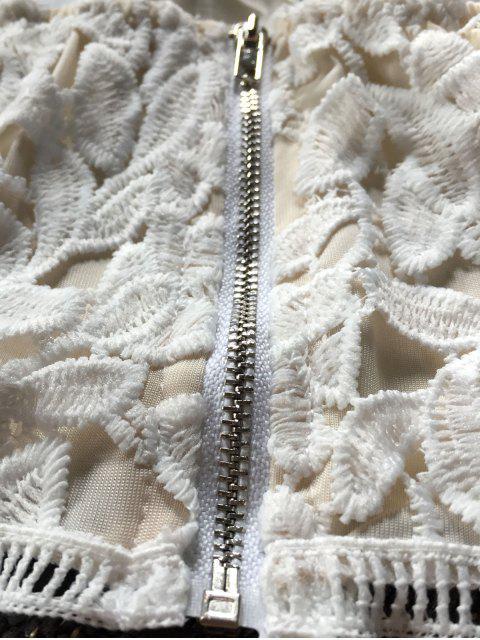 Haut bustier en dentelle et Short - Blanc L Mobile