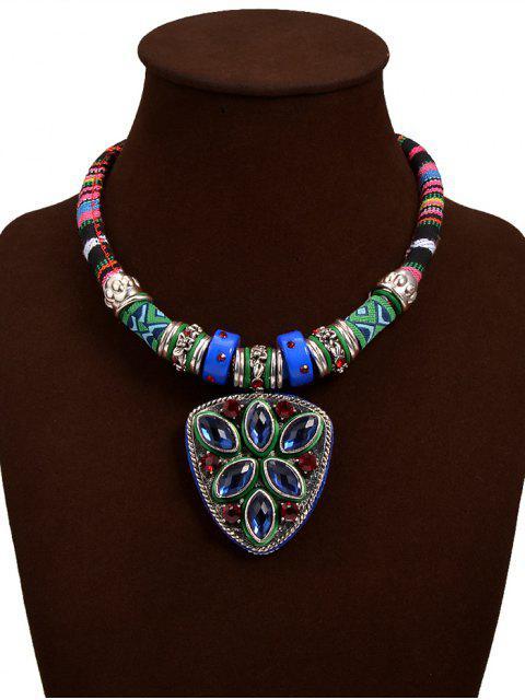 Gefälschte Türkis Dreieck-Anhänger-Halskette - Blau  Mobile