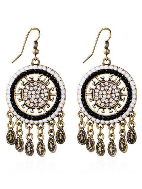 affordable Water Drop Rhinestone Bohemian Earrings - WHITE  Mobile