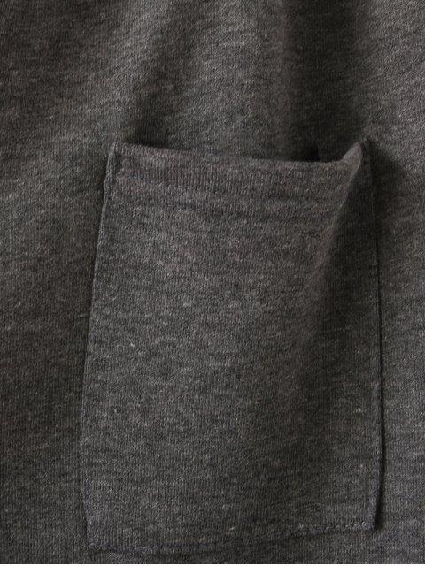 Emoticon Patched Jogging Pants - Noir 2XL Mobile