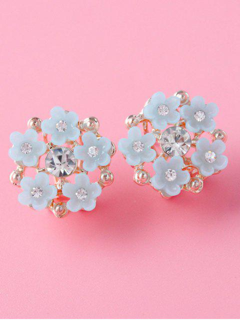 new Rhinestone Flower Adorn Earrings - GRAY  Mobile