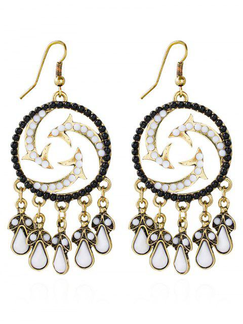 latest Bohemian Beads Twisted Water Drop Earrings -   Mobile