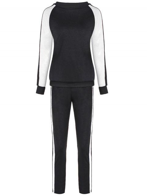 Sport pantalones camiseta manga la camiseta + - Negro M Mobile