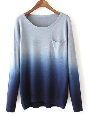 Ombre Pocket Sweater - Blue
