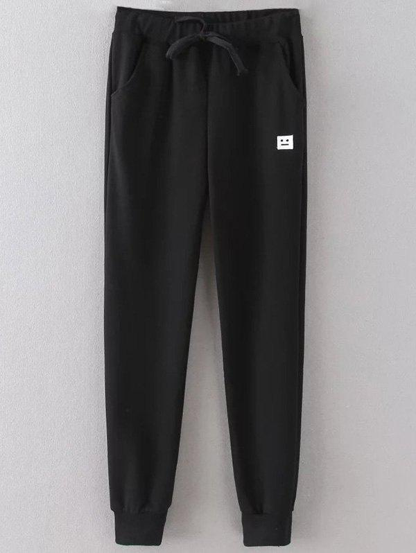 Emoticon Patched Jogging Pants 197267604
