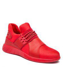 مطاطا بو الجلود أحذية رياضية - أحمر 42
