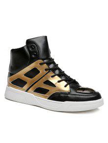 براءات الاختراع والجلود تقسم الدانتيل متابعة الأحذية - ذهبي 40